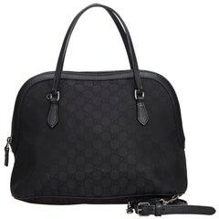 Gucci Black GG Medium Dome Satchel