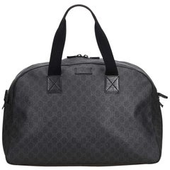 Gucci Black GG Duffel Bag
