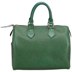 Louis Vuitton Green Epi Speedy 25