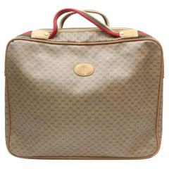 Gucci Boston Sherry Monogram Web Suitcase 869496 Brown Coated Canvas Weekend/Tra
