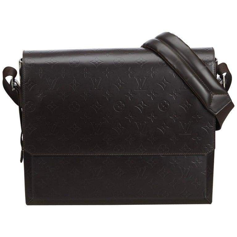 Louis Vuitton Black Monogram Glace Fonzie For Sale