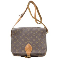 Louis Vuitton Cartouchiere Monogram 869455 Brown Coated Canvas Cross Body Bag