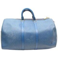 Louis Vuitton Keepall Duffle Epi Toledo 45 869483 Blue Leather Weekend/Travel Ba