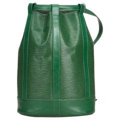 Louis Vuitton Green Epi Randonnee PM