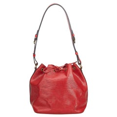 Louis Vuitton Red Epi Petit Noe