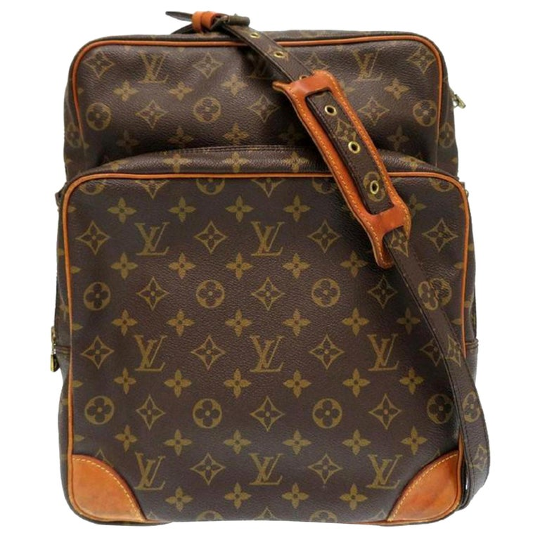 7e2a450fb62e Louis Vuitton Amazon Extra Large Monogram Gm 869299 Brown Coated Canvas  Shoulder For Sale