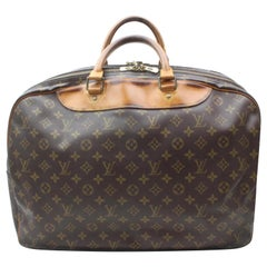Louis Vuitton Duffle Alize Monogram 2 Poches Luggage 869258 Brown Coated Canvas