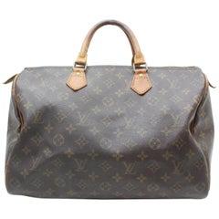 Louis Vuitton Speedy Monogram 35 869241 Brown Coated Canvas Satchel