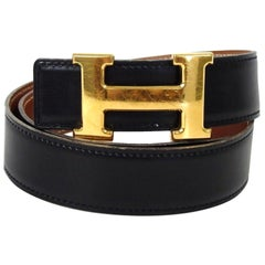 Hermès Black Reversible 32mm H Logo Kit 869155 Belt