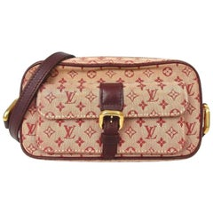 Louis Vuitton Juliette Bordeaux Pink Monogram Mini Lin 869157 Burgundy Canvas Cr