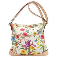 Gucci Floral Print Signature Cross Body 868868 Multicolor Canvas Messenger Bag