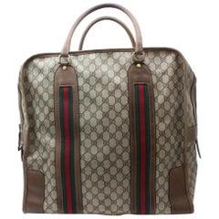 Gucci Boston Supreme Sherry Monogram Web Large Duffle 869636 Weekend/Travel Bag