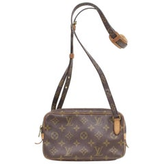 Louis Vuitton Pochette Marly Monogram Bandouliere 868554 Brown Coated Canvas Cro