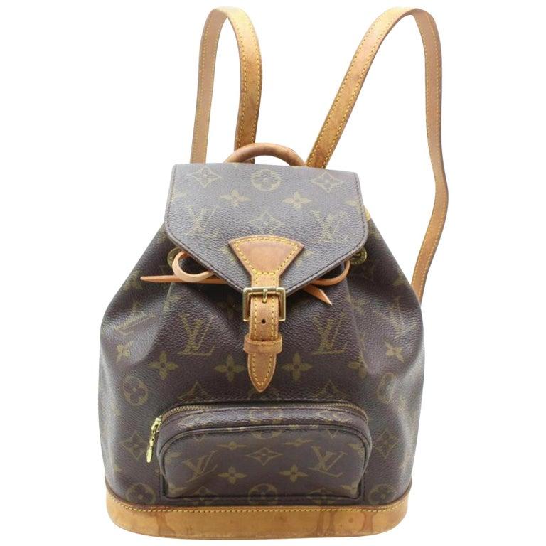 9ebb25849a25 Louis Vuitton Montsouris Monogram Mini Pm 869410 Brown Coated Canvas  Backpack For Sale