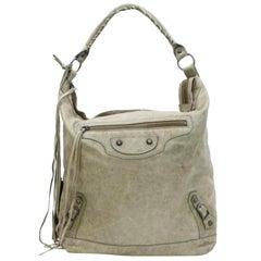 Balenciaga Olive Day One Hobo 868205 Beige Leather Shoulder Bag