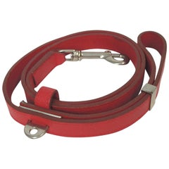 Hermès Red (Ultra Rare) Dog Leash 868058 Belt