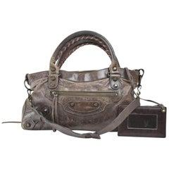 Balenciaga First 2way 867981 Brown Leather Shoulder Bag