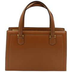 60's Hermes Vintage Pullman Brown Leather Bag