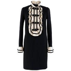 Gucci ruffle-bib black Mini Dress US 6