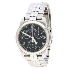 Tissot Black Stainless Steel PR 50 Chronograph J378/478 Men's Wristwatch 38 mm