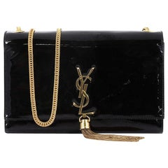Saint Laurent Classic Monogram Tassel Crossbody Bag Patent Small