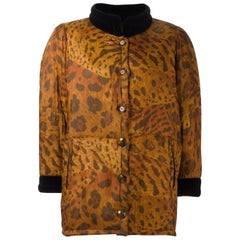 1996s Yves Saint Laurent Catwalk Animal Print Silk Coat