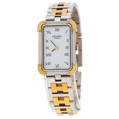 Hermes Gold Plated Stainless Steel Croisière CR1.220 Women's Wristwatch 15mm