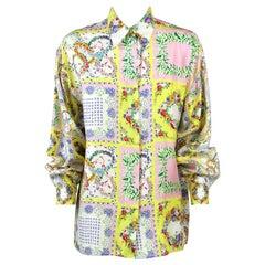 1990s Versace Silk Floral Shirt