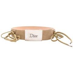 Dior Beige lattice detail Belt