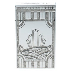 ST Dupont Art Deco Ligne 2 Textured Palladium Finish Limited Edition Lighter
