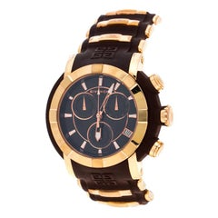 Givenchy Brown Rose Gold Stainless Steel GV-5213J Men's Wristwatch 48MM