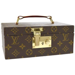 Louis Vuitton Limited Ed. Monogram Top Handle Men's Jewelry Travel Storage Case