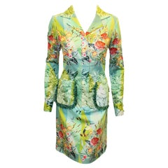 Paola Quadretti Multi Color Floral Long Sleeve Dress