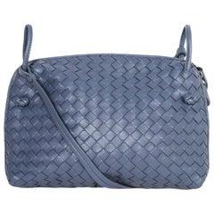Bottega Veneta Slate Blue Intrecciato Nodini Crossbody Bag rt. $1,650