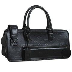 Louis Vuitton Black Leather Monogram Evening Triangle Top Handle Satchel