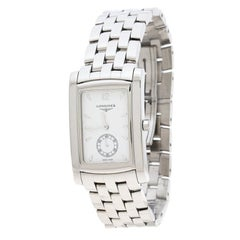 Longines White Stainless Steel Dolce Vita L5.655.4.16.6 Men's Wristwatch 26 mm