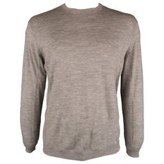 BRUNELLO CUCINELLI Size 42 Gray Solid Wool Raglan Pullover