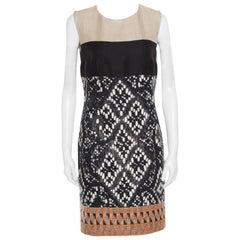 Giambattista Valli Colorblock Woven Jacquard Sleeveless Dress S