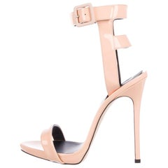 Giuseppe Zanotti NEW Blush Patent Leather Gladiator Evening Sandals Heels in Box