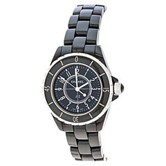 Chanel Black Ceramic J12 Women's Wristwatch 33 mm