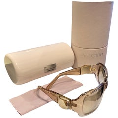 New Jimmy Choo Swarovski Sunglasses With Case & Box $595