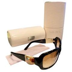 New Jimmy Choo Swarovski Sunglasses With Case & Box $595