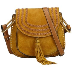 Chloe Brown Small Suede Hudson Crossbody Bag