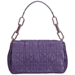 Dior Purple Cannage Delices Leather Shoulder Bag