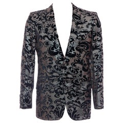 Tom Ford for Gucci Runway Damask Velvet Men's Tuxedo Blazer, Spring 2000