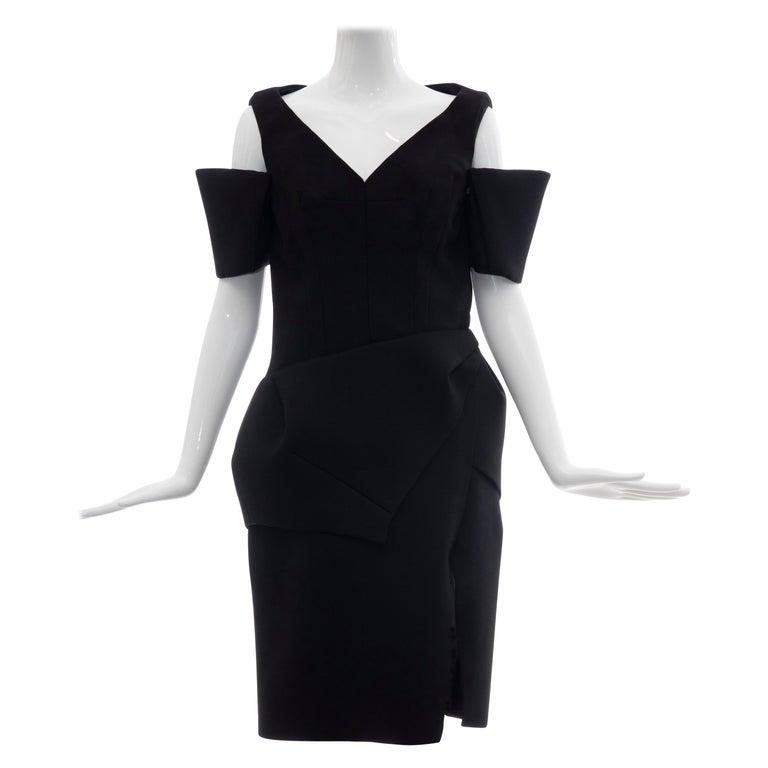 Nicolas Ghesquière for Balenciaga black wool dress, 2008