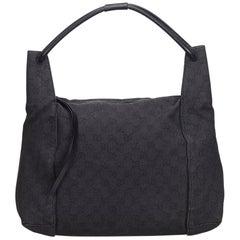 Gucci Black GG Jacquard Shoulder Bag