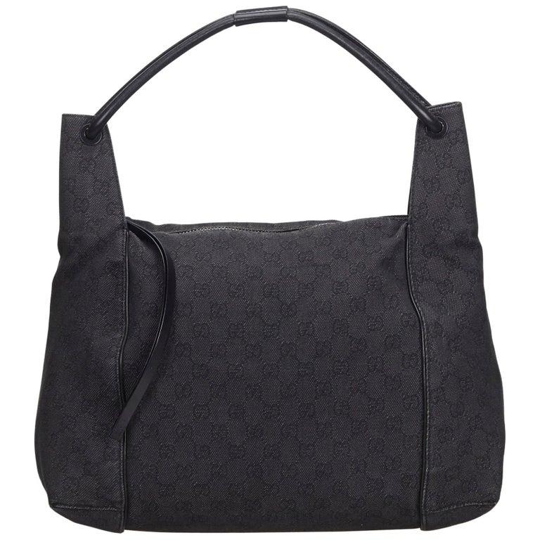 9f73c770696 Gucci Black GG Jacquard Shoulder Bag at 1stdibs