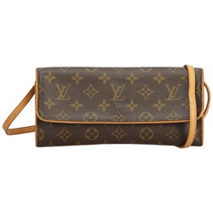 Louis Vuitton Brown Monogram Pochette Twin GM