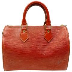 Louis Vuitton Speedy 25 868006 Brown Leather Satchel
